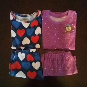 Carter's Girls 2 Pajamas Set lot